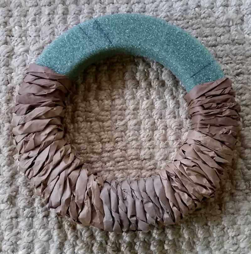DIY Fall Wreath Step 1