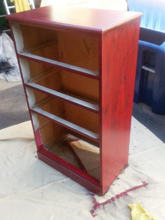 Dresser redo with glaze