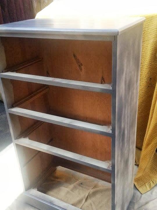 DIY Furniture Redo primer on dresser
