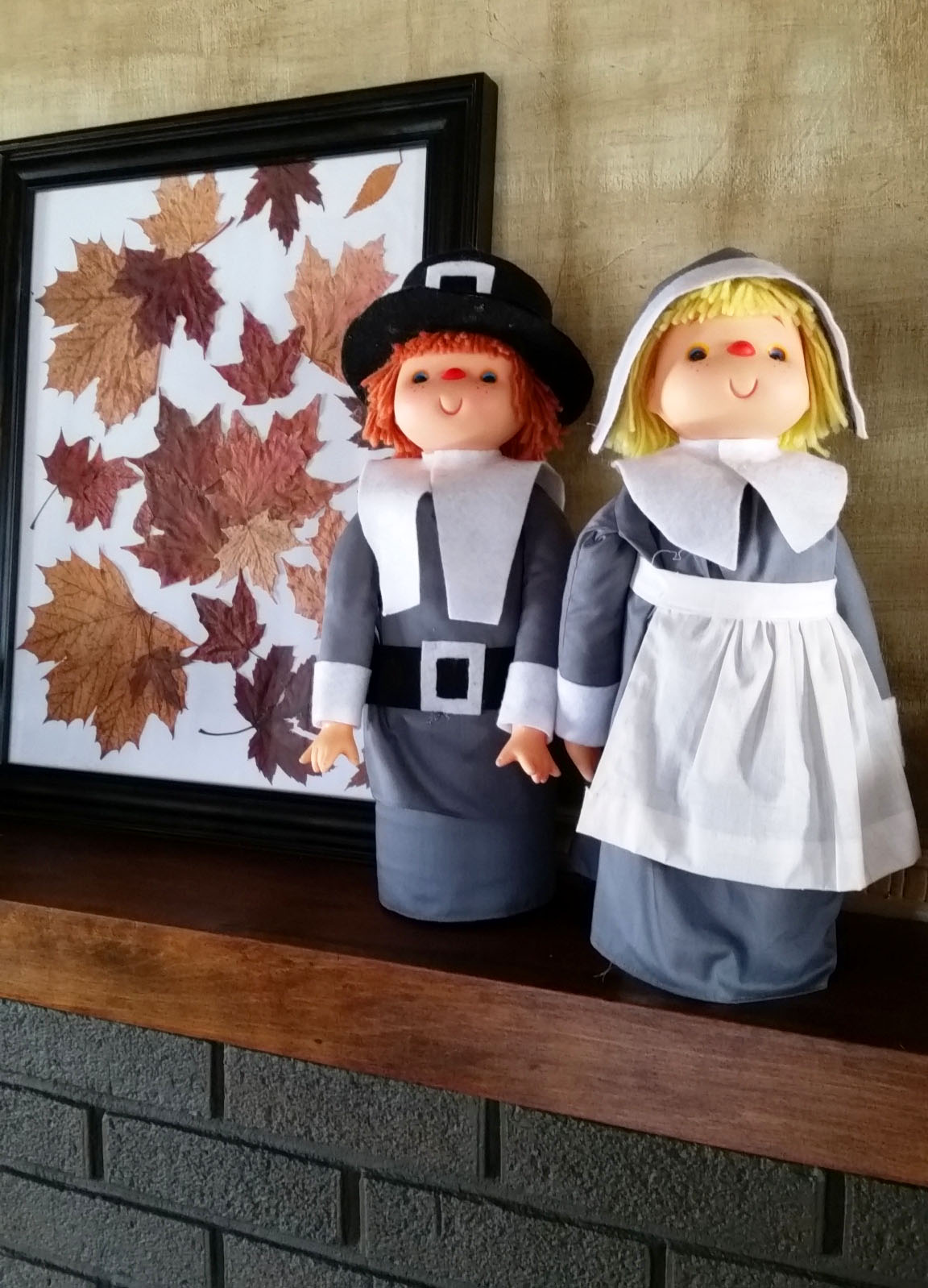 Thanksgiving Decorations Craft These Grateful Pilgrims From Liter